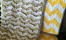 Easy Chevron Zig Zag Rag Quilt Tutorial
