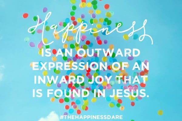 Happiness outward expression
