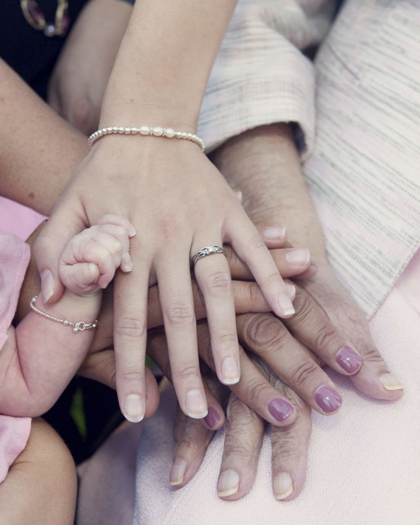 5 generations photo of hands