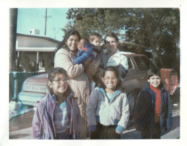 That's me front and center. The others are left to right: Vanessa, my mom holding Marcus (a foster baby), my dad holding Jonathan, Pere.