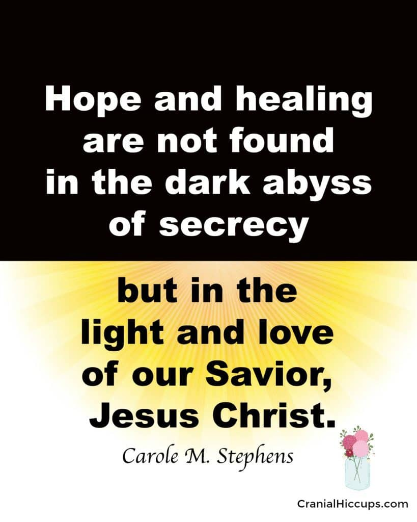 hope and healing found in Jesus Christ