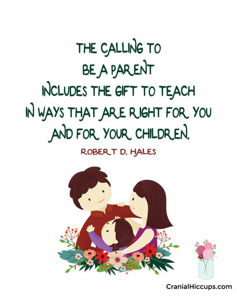 """""""The calling to be a parent includes the gift to teach in ways that are right for you and for your children."""" Robert D. Hales #LDSConf"""