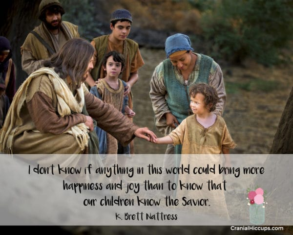 """""""I don't know if anything in this world could bring more happiness and joy than to know that our children know the Savior."""" K. Brett Nattress #LDSConf"""