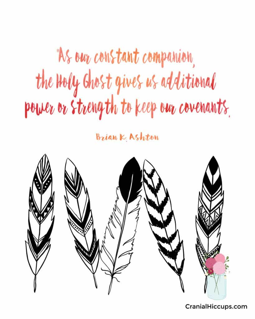 """""""As our constant companion, the Holy Ghost gives us additional power or strength to keep our covenants."""" Brian K. Ashton #LDSConf"""