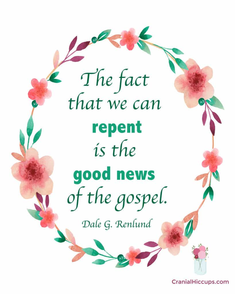 """""""The fact that we can repent is the good news of the gospel."""" Dale G. Renlund #LDSConf"""