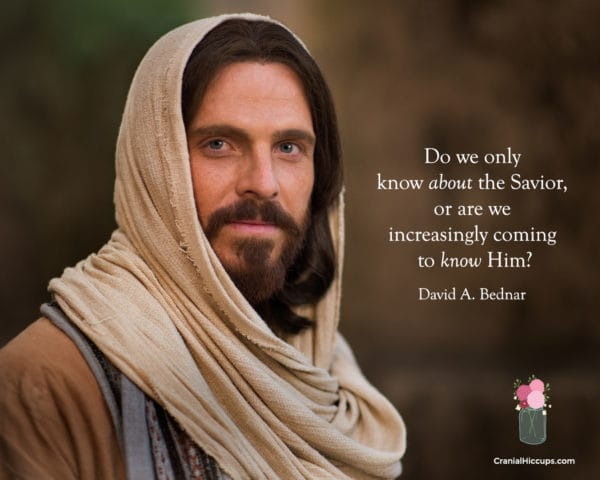"""""""Do we only know about the Savior, or are we increasingly coming to know Him?"""" David A. Bednar #LDSConf"""