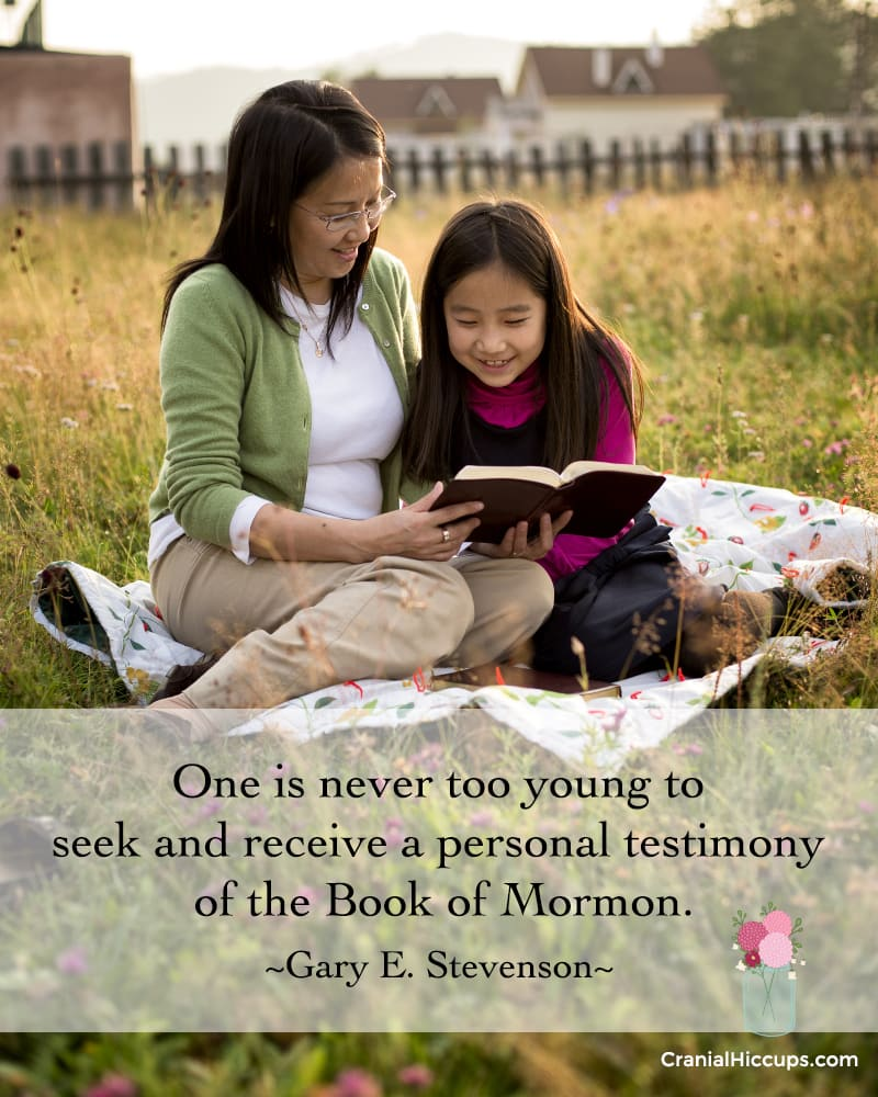 """""""One is never too young to seek and receive a personal testimony of the Book of Mormon."""" Gary E. Stevenson #LDSConf"""