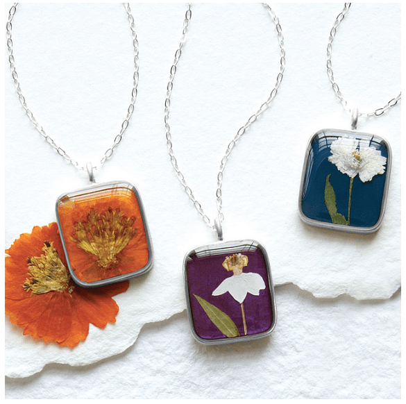 birth month flower necklace from uncommon goods