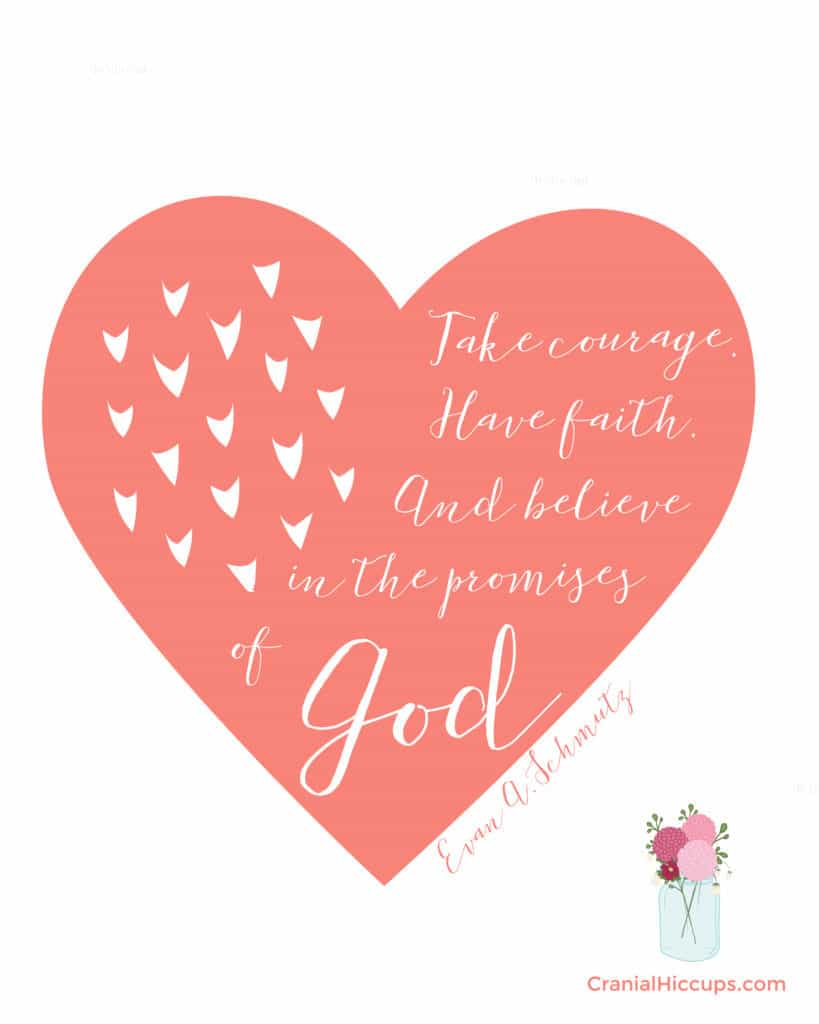 """""""Take courage. Have faith. And believe in the promises of God."""" Evan A. Schmutz #LDSConf"""