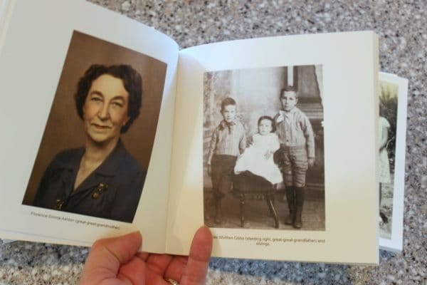 inside of chatbook with ancestor pictures