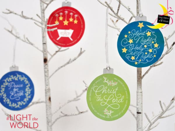 #LIGHTtheWORLD pass along service ornaments