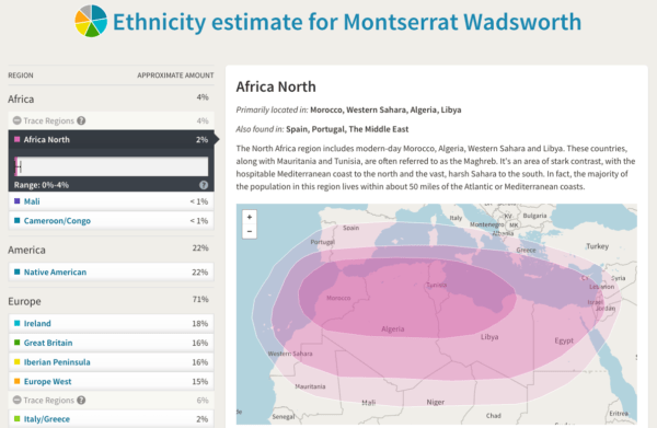 Ancestry.com DNA results Africa