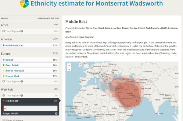half of the specific regions ancestrycom tests for are part of my dna i think that is awesome of the major regions only two pacific islander and asia