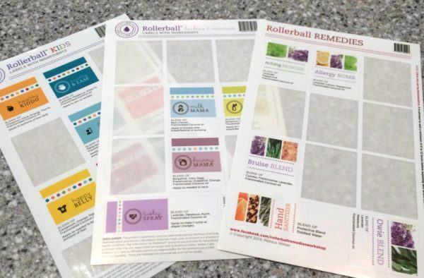 Rollerball Make and Take Label Sheets