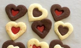 Super Easy Valentine's Cookies (With regular and chocolate Sugar Cookie dough!)
