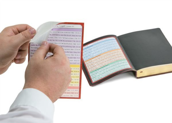 MissionAid scripture inserts are self-adhesive