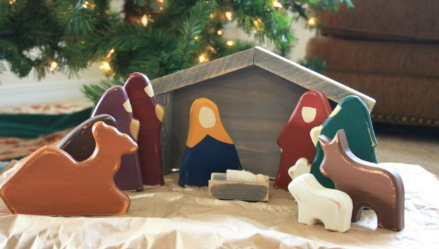 Wonderful Wood Nativity Scenes for Children {Giveaway}